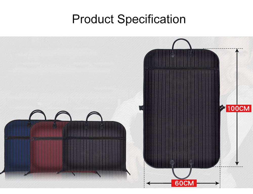 Mens Suit Travel Garment Bag Travel Suit Packing Organizer with Zipper Pocket, Dustproof Garment Folder 9