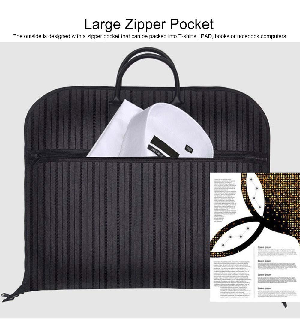 Mens Suit Travel Garment Bag Travel Suit Packing Organizer with Zipper Pocket, Dustproof Garment Folder 4