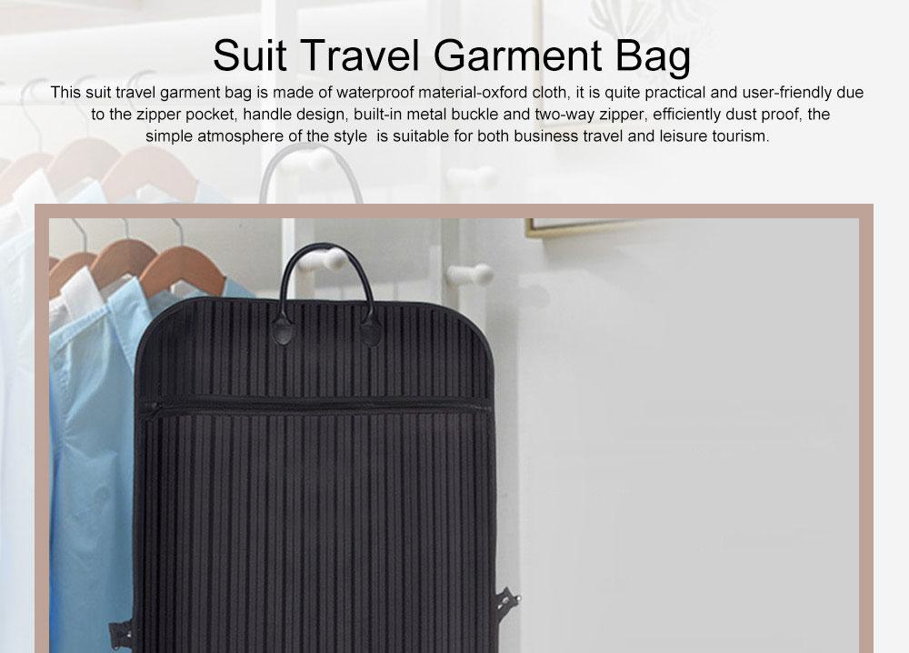 Mens Suit Travel Garment Bag Travel Suit Packing Organizer with Zipper Pocket, Dustproof Garment Folder 0