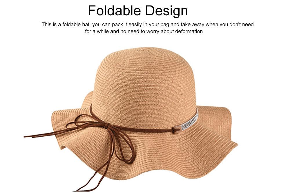 Elegant Ladies Beach Sun Hat Studded Wide Brim Hat Fashion Women Cap Fisherman Hat Best Gifts for Women 2