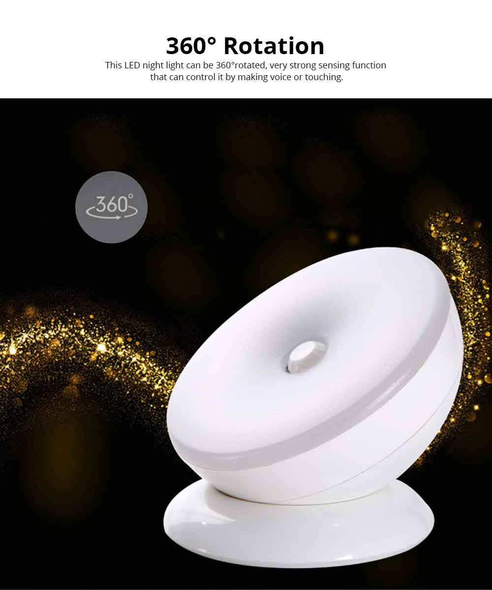 Rechargeable Battery LED Night Light with Sound Control Touch Sensor LED Cabinet Lights, Magnet Stick-on Closet Light 2