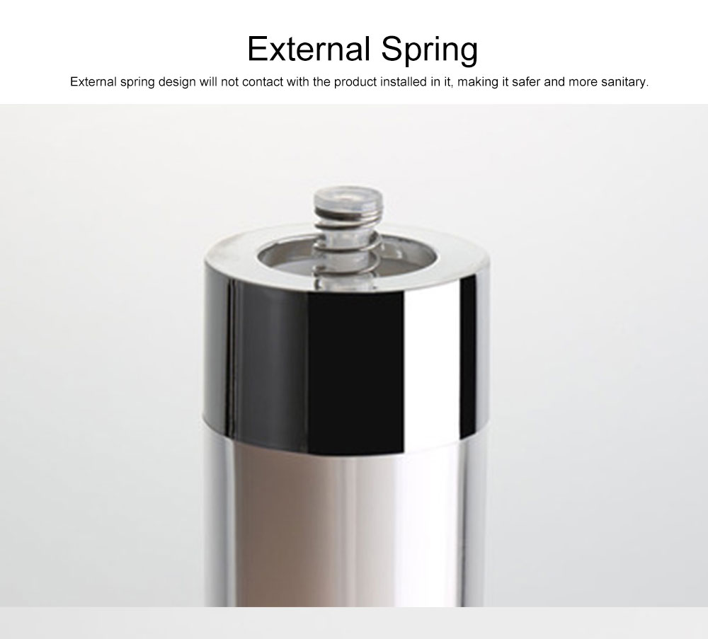 Acrylic Bottle for Traveler, Contracted Shape Delicate Capacity Vacuum Flask, External Spring Rotating Switch Lock Emulsion Bottle 3