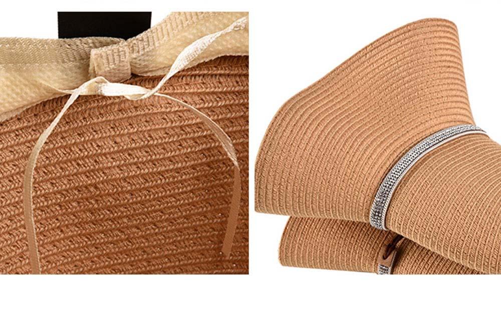Elegant Ladies Beach Sun Hat Studded Wide Brim Hat Fashion Women Cap Fisherman Hat Best Gifts for Women 4