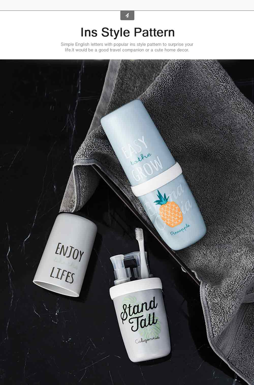 Portable Travel Gargle Brush Cup Set Simple Household Toothpaste Box Couple&Children Toothbrush Box Case Container Plastic Storage 4