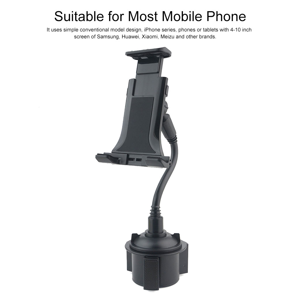 Vehicle-mounted Mobile Phone Bracket, Soft Rubber Stand Suitable for Most Mobile Phone Center Control Cell Phone Holder 4