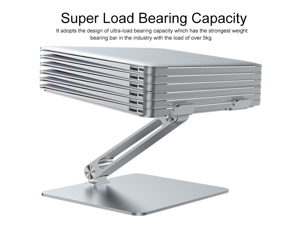 Liftable Aluminum Alloy Notebook Tablet PC Stand 6KG Super Load Bearing Capacity Foldable Notebook Projector Holder 1