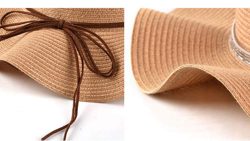 Elegant Ladies Beach Sun Hat Studded Wide Brim Hat Fashion Women Cap Fisherman Hat Best Gifts for Women 3