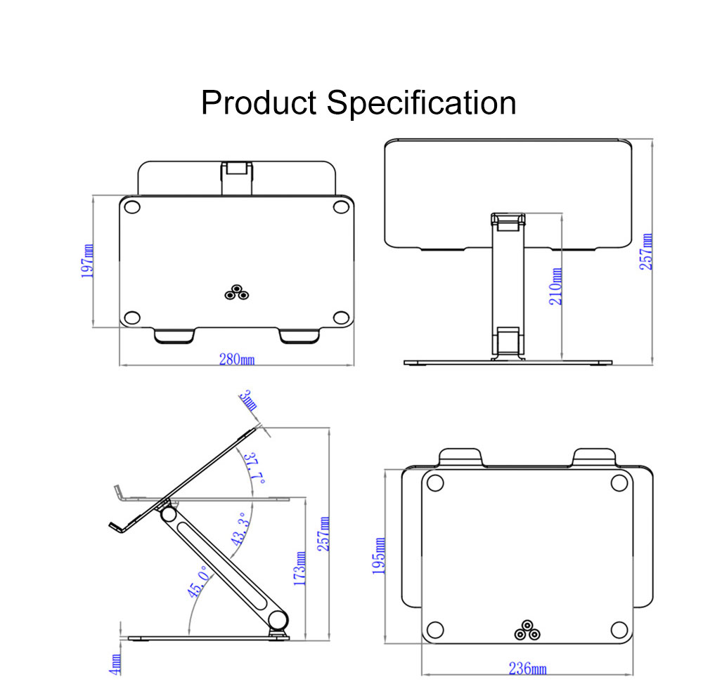 Liftable Aluminum Alloy Notebook Tablet PC Stand 6KG Super Load Bearing Capacity Foldable Notebook Projector Holder 6