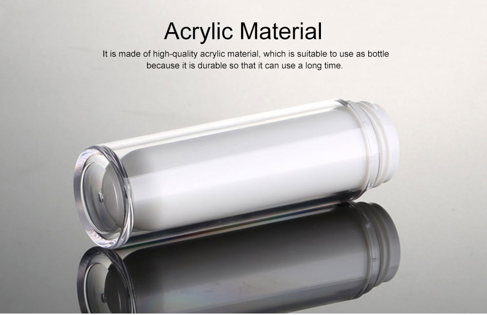 Acrylic Bottle for Traveler, Contracted Shape Delicate Capacity Vacuum Flask, External Spring Rotating Switch Lock Emulsion Bottle 5