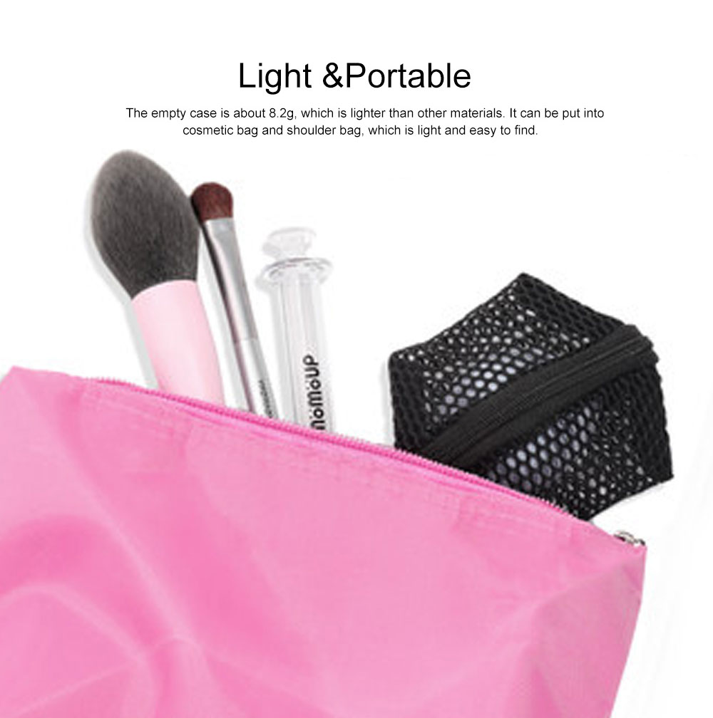 Makeup Egg Sponge Storage Net Bag, Portable Beauty Sponge Travel Case with Hollow-out Design for Air Drying 3
