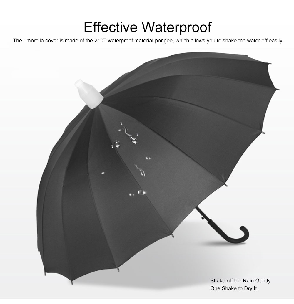 Fully Automatic Waterproof Umbrella & Case, Waterproof and Windproof Straight Umbrella for Car Rain Outdoor Use 6