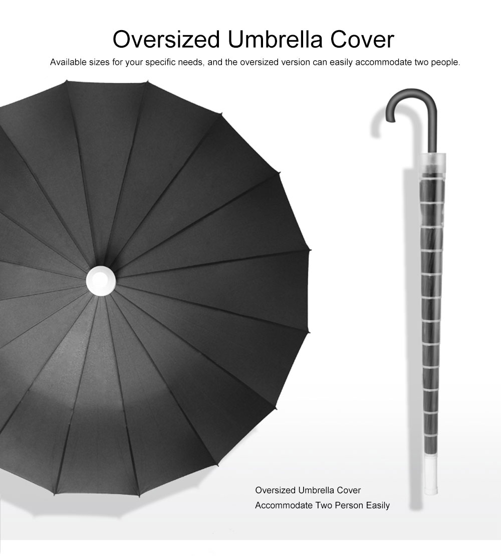 Fully Automatic Waterproof Umbrella & Case, Waterproof and Windproof Straight Umbrella for Car Rain Outdoor Use 4