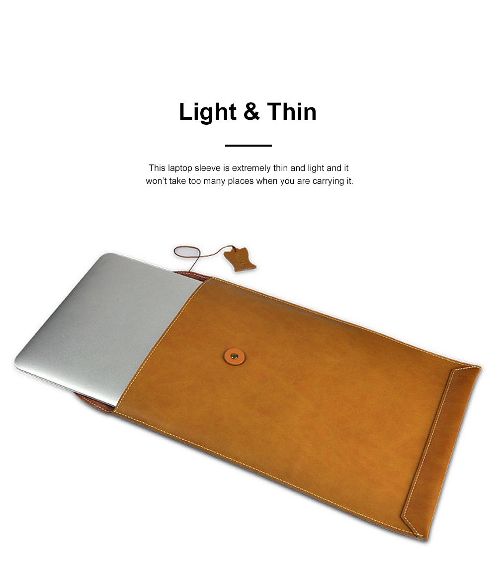Soft Scratching-proof Leather Macbook Bag Pouch, Envelop Model Laptop Protective Cover for Macbook 11inch 12inch 13.3inch Air 15.4inch 3