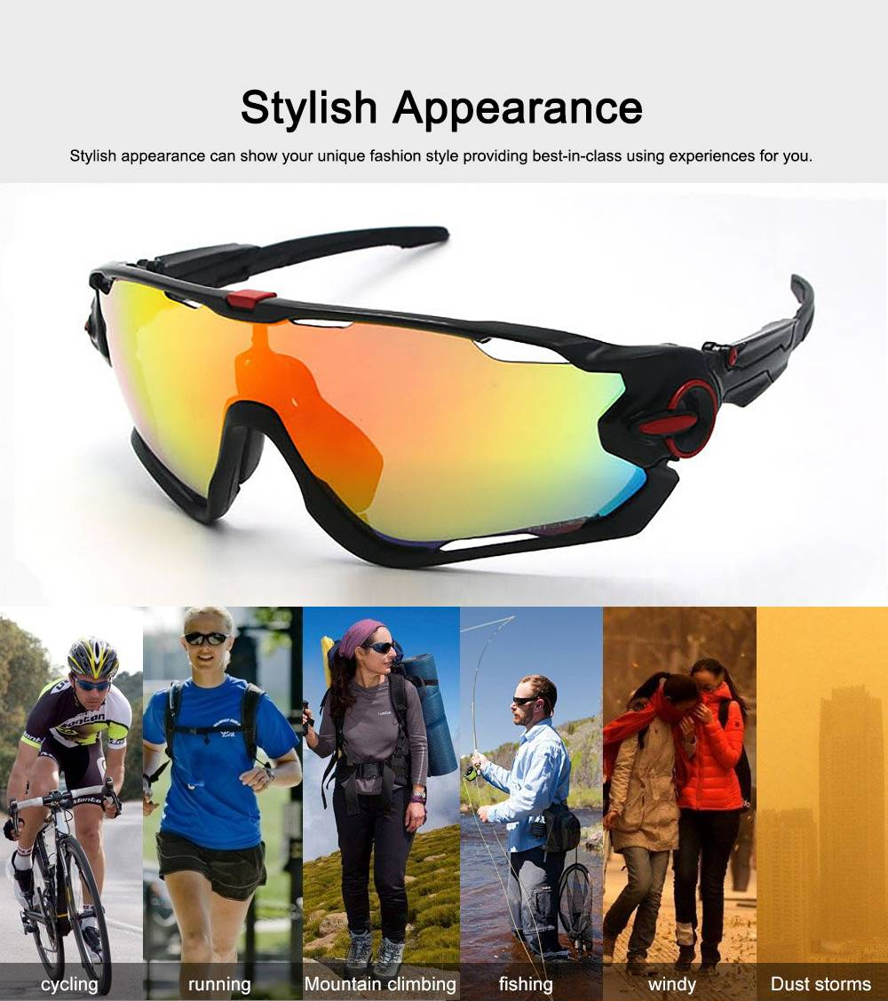 Multifunctional Stylish Wind Sand Resistance Outdoors Sports Mountain Climbing Bicycling Unsex Goggles Eye Protection Sunglasses 5
