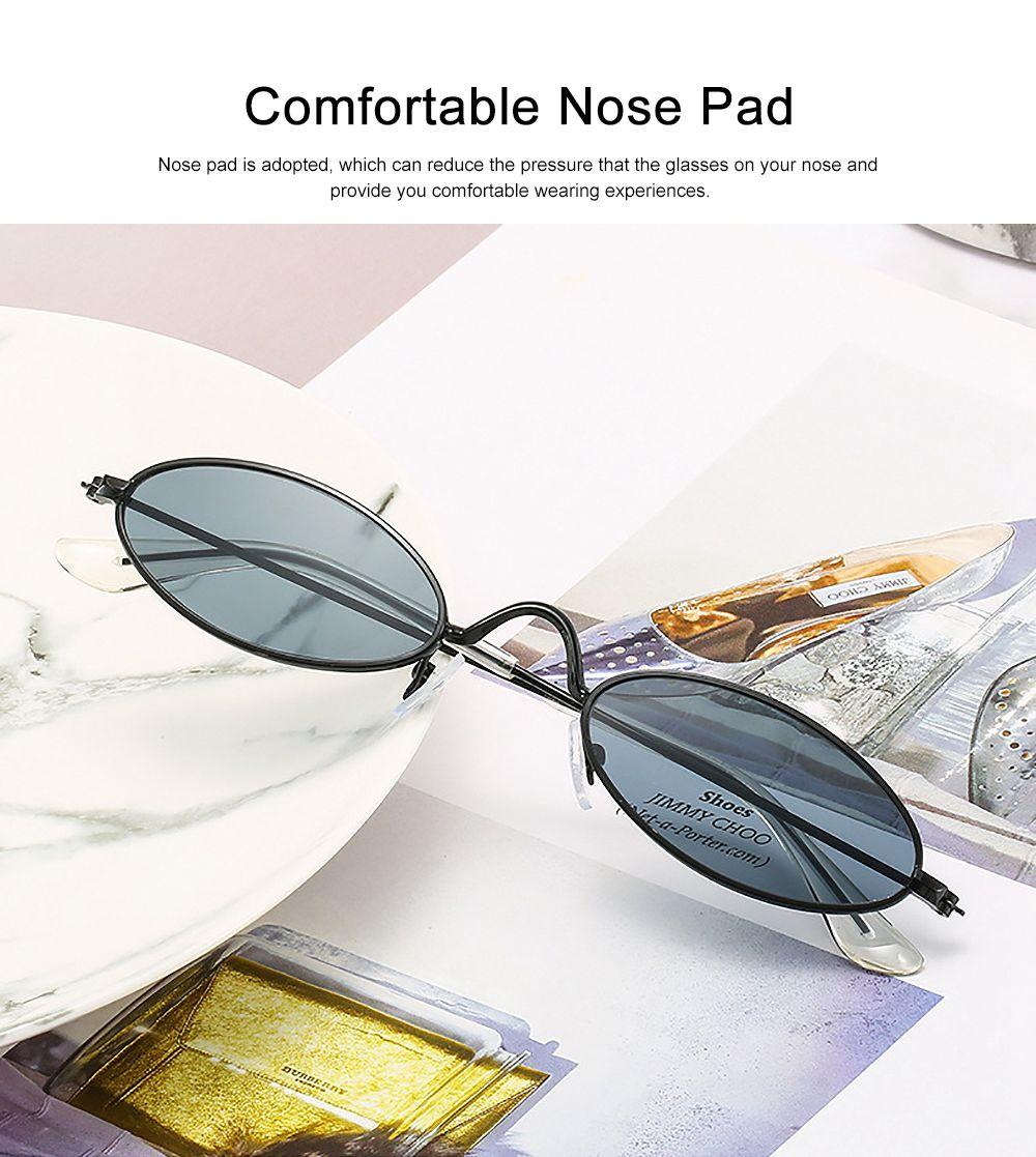 Stylish Individual Oval Model Frame Unisex Sunglasses Sunlight UV Protection Eyeglasses for Women Men 2