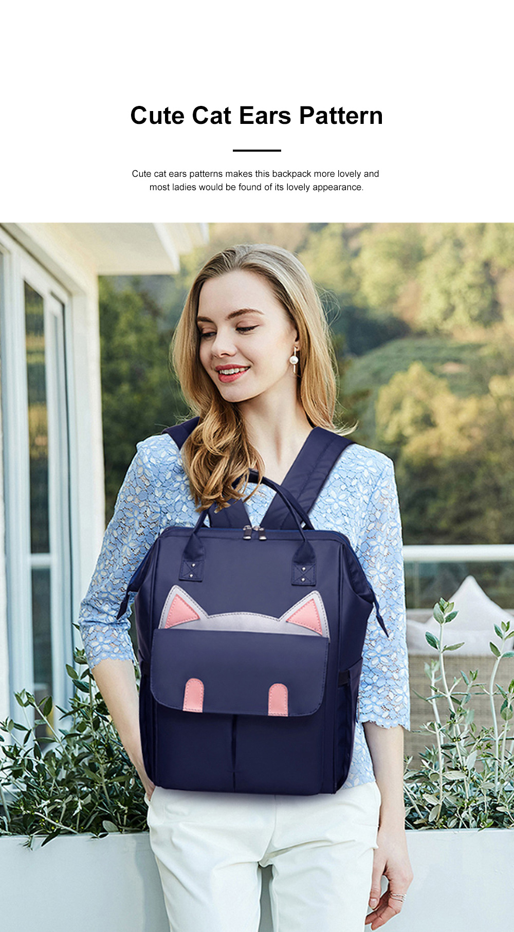 Large Capacity Multifunctional Mummy Backpack, Waterproof Oxford Cloth Napkin Shoulder Bag for Mother 2