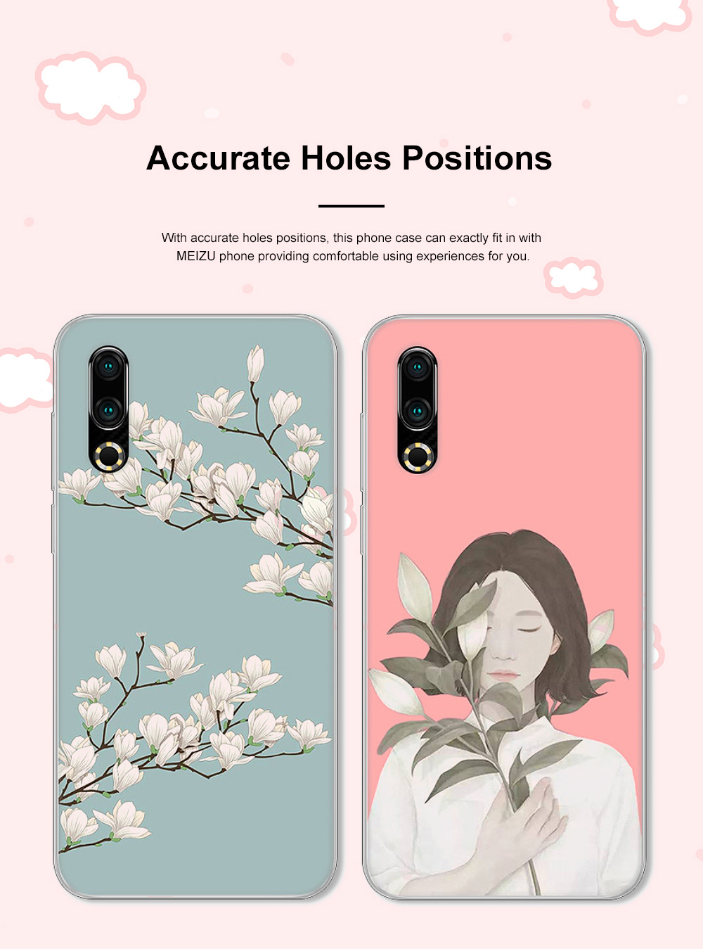 Fancy Cute Carton Painting MEIZU 16S Phone Case, Ultra-soft Silicone TPU MEIZU Creative Phone Protective Cover 2