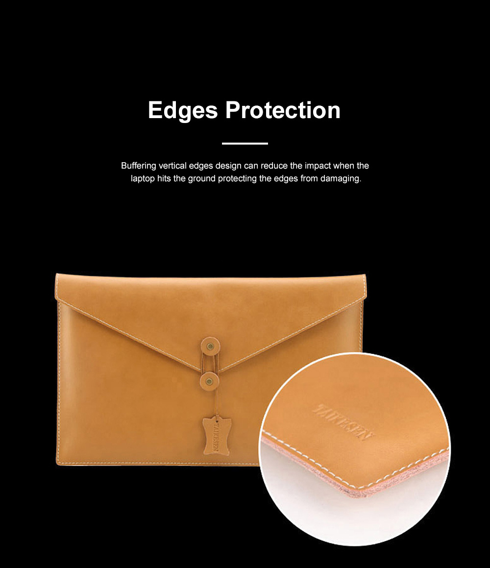 Soft Scratching-proof Leather Macbook Bag Pouch, Envelop Model Laptop Protective Cover for Macbook 11inch 12inch 13.3inch Air 15.4inch 6