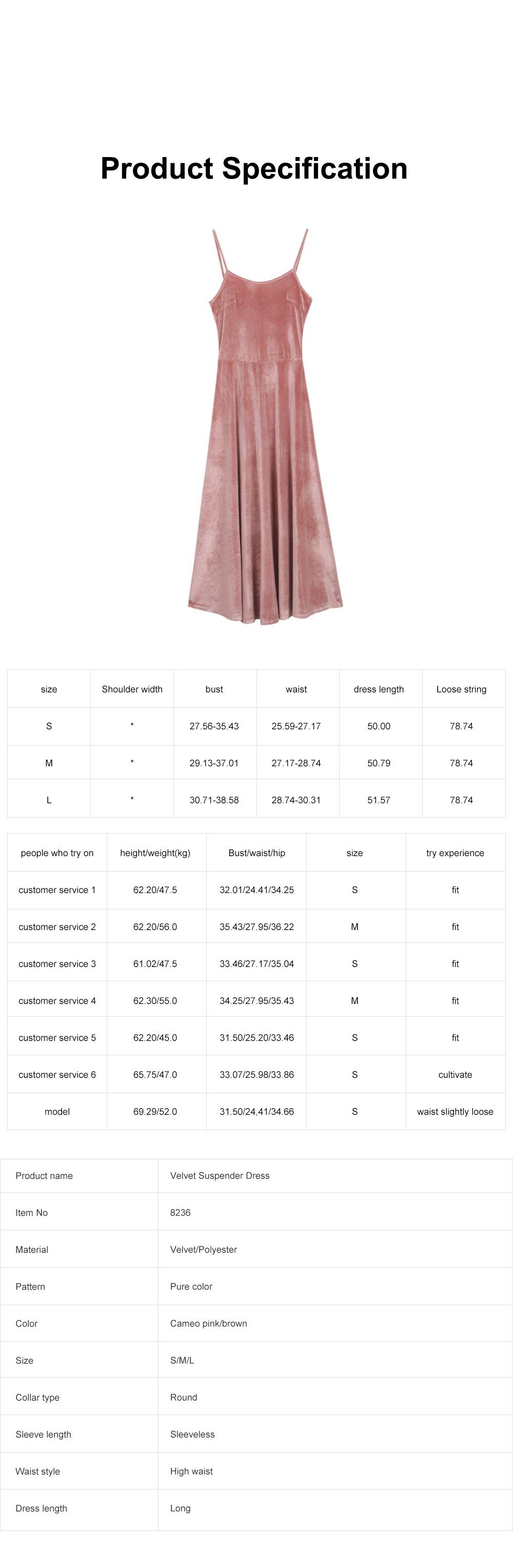 Women's Overall Suspender Dress Velvet Classic Retro Style with High Waist and Back Strap Ankle Length Bottoming Vest Skirt 6