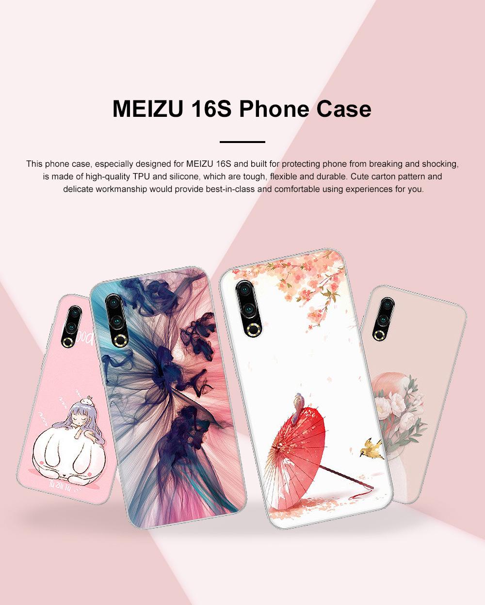 Fancy Cute Carton Painting MEIZU 16S Phone Case, Ultra-soft Silicone TPU MEIZU Creative Phone Protective Cover 0