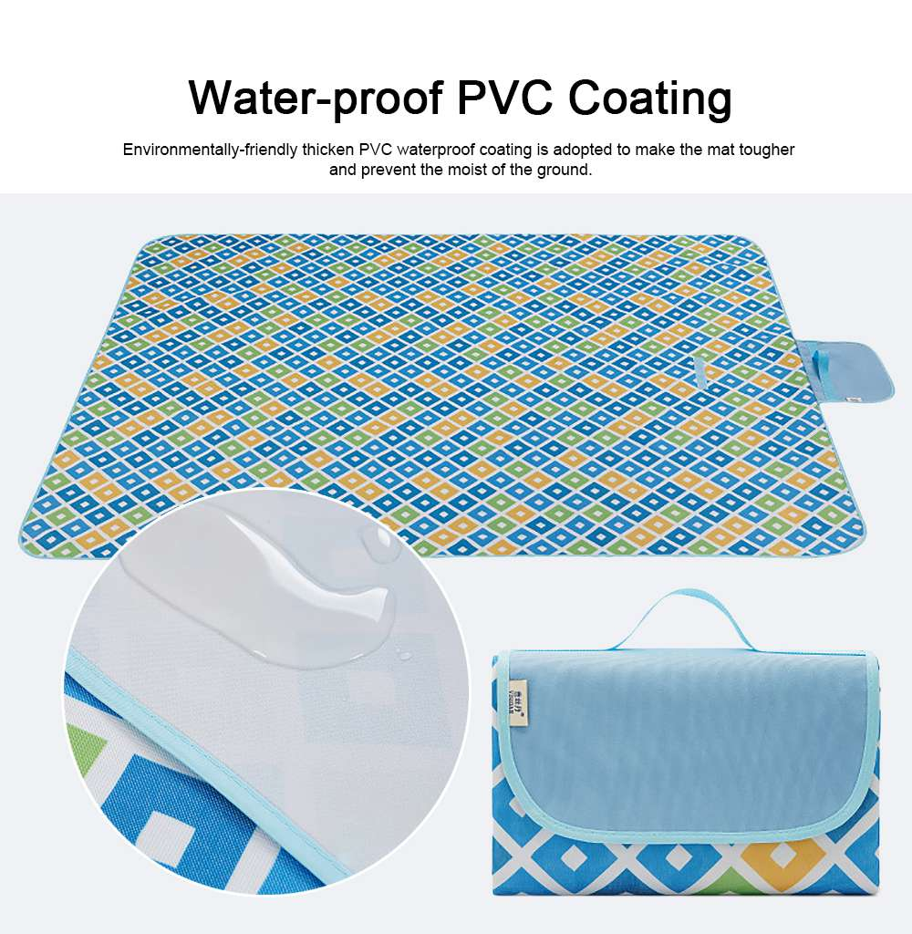 Delicate Painting Moisture-proof Waterproof Oxford Cloth Picnic Grass Blanket Camping Mat Outdoors Accessories 4