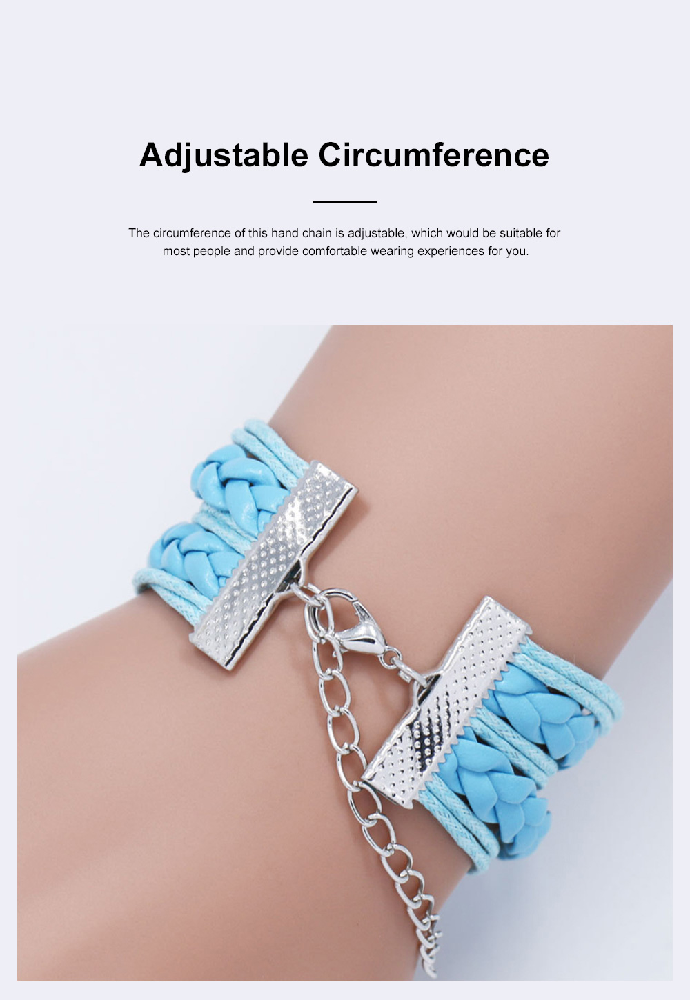 Stylish Fancy Family Mom Letters Decoration Bracelet, Multiple Layers Knitted Leather Cystal Hand Chain 1