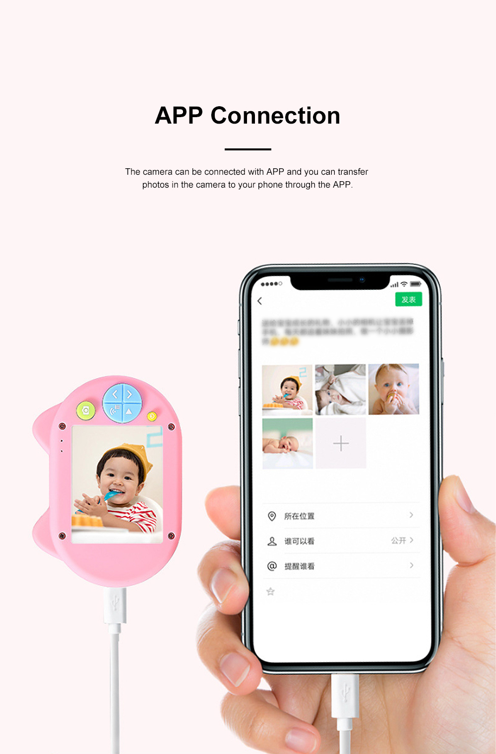 Cute Animal Model Mini Digital Camera for Children WIth Breaking-proof Silicone Shell 16G 1200W HD Pixel 2.0 inch Video Recorder Birthday Present 5