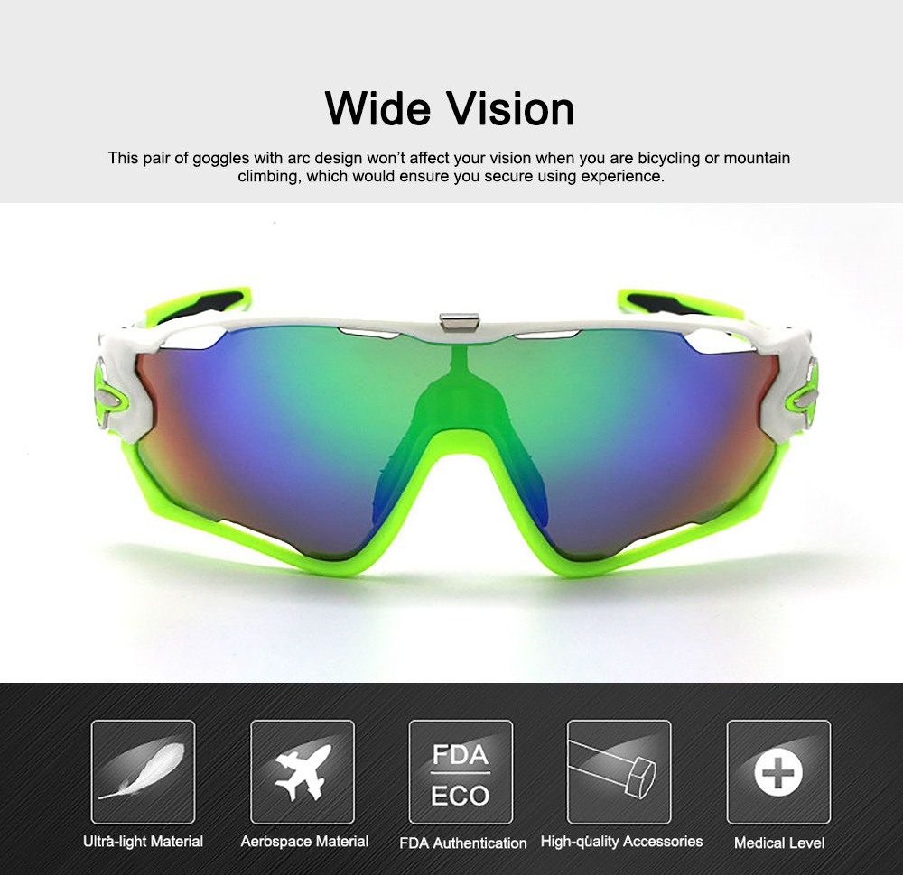 Multifunctional Stylish Wind Sand Resistance Outdoors Sports Mountain Climbing Bicycling Unsex Goggles Eye Protection Sunglasses 4