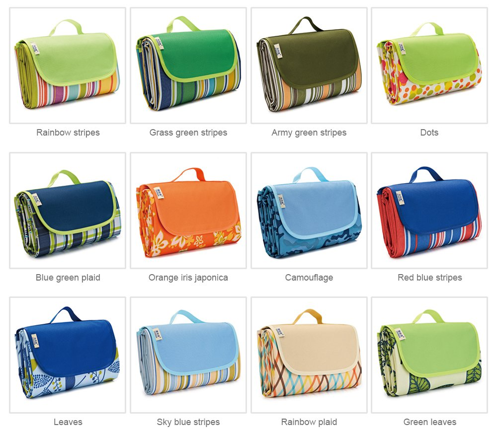 Delicate Painting Moisture-proof Waterproof Oxford Cloth Picnic Grass Blanket Camping Mat Outdoors Accessories 8