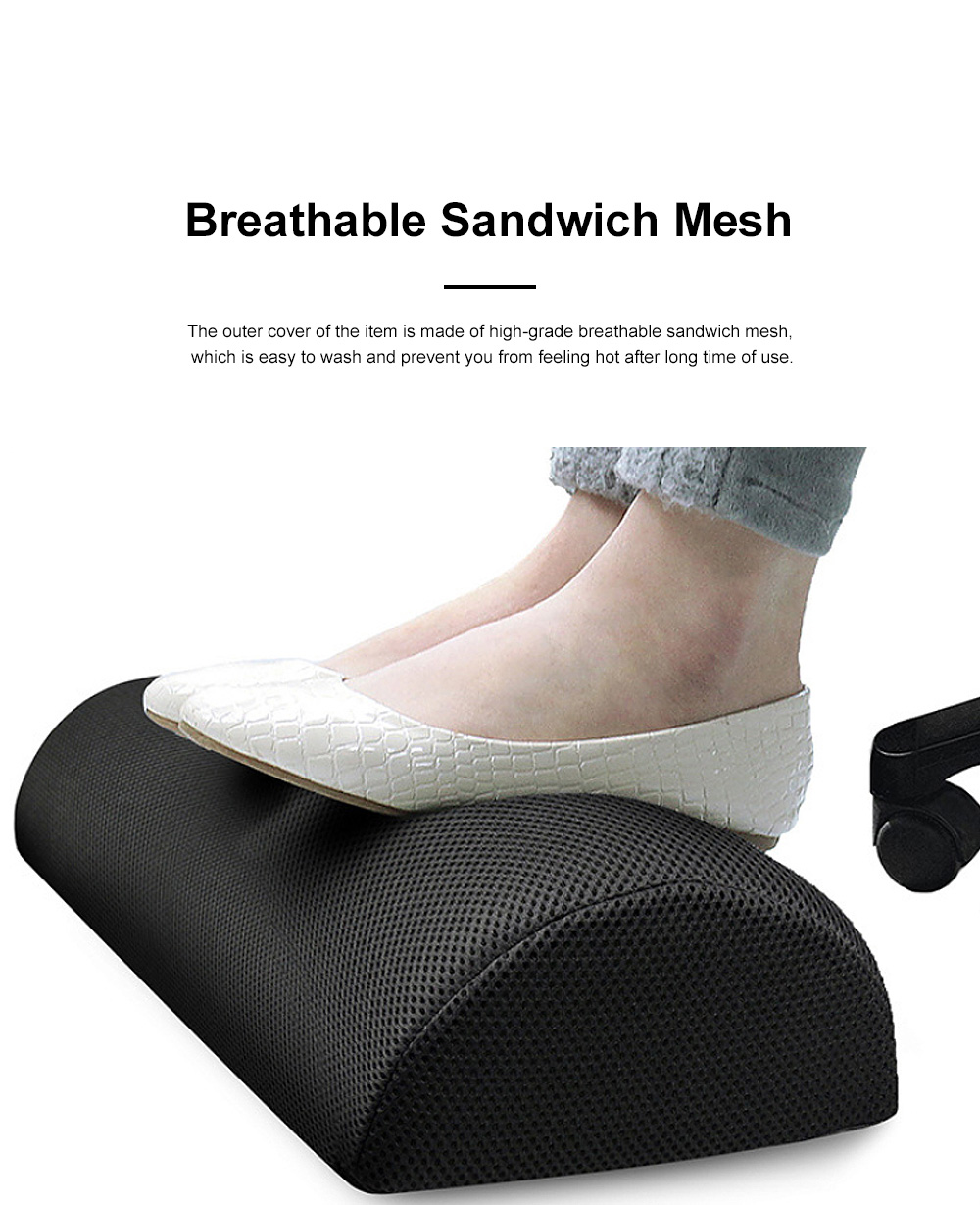 Functional Arch High-density Foam Foot Rest, Delicate Portable Anti-slip Office Study Room Foot Pad Mat 2