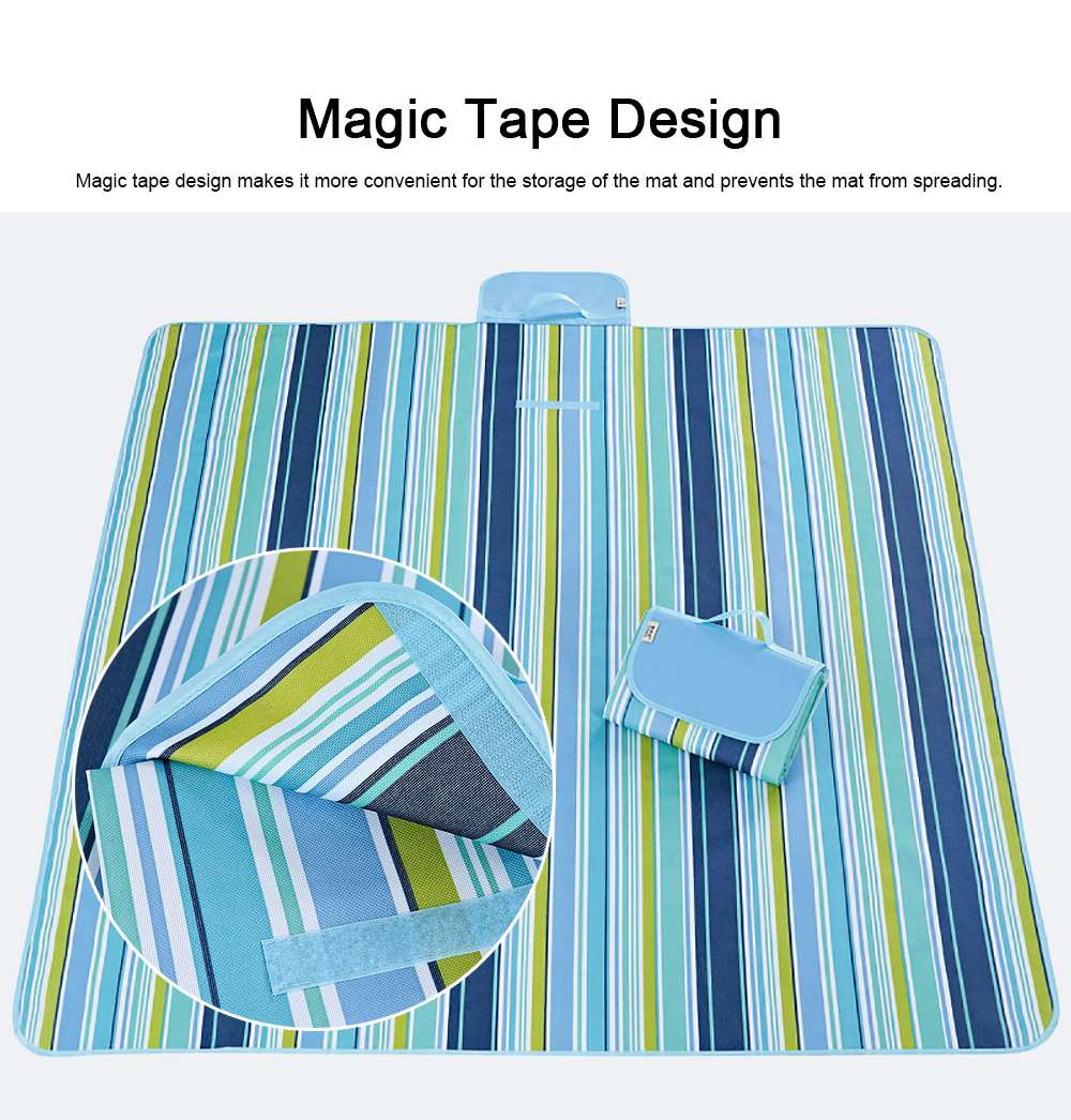 Delicate Painting Moisture-proof Waterproof Oxford Cloth Picnic Grass Blanket Camping Mat Outdoors Accessories 2