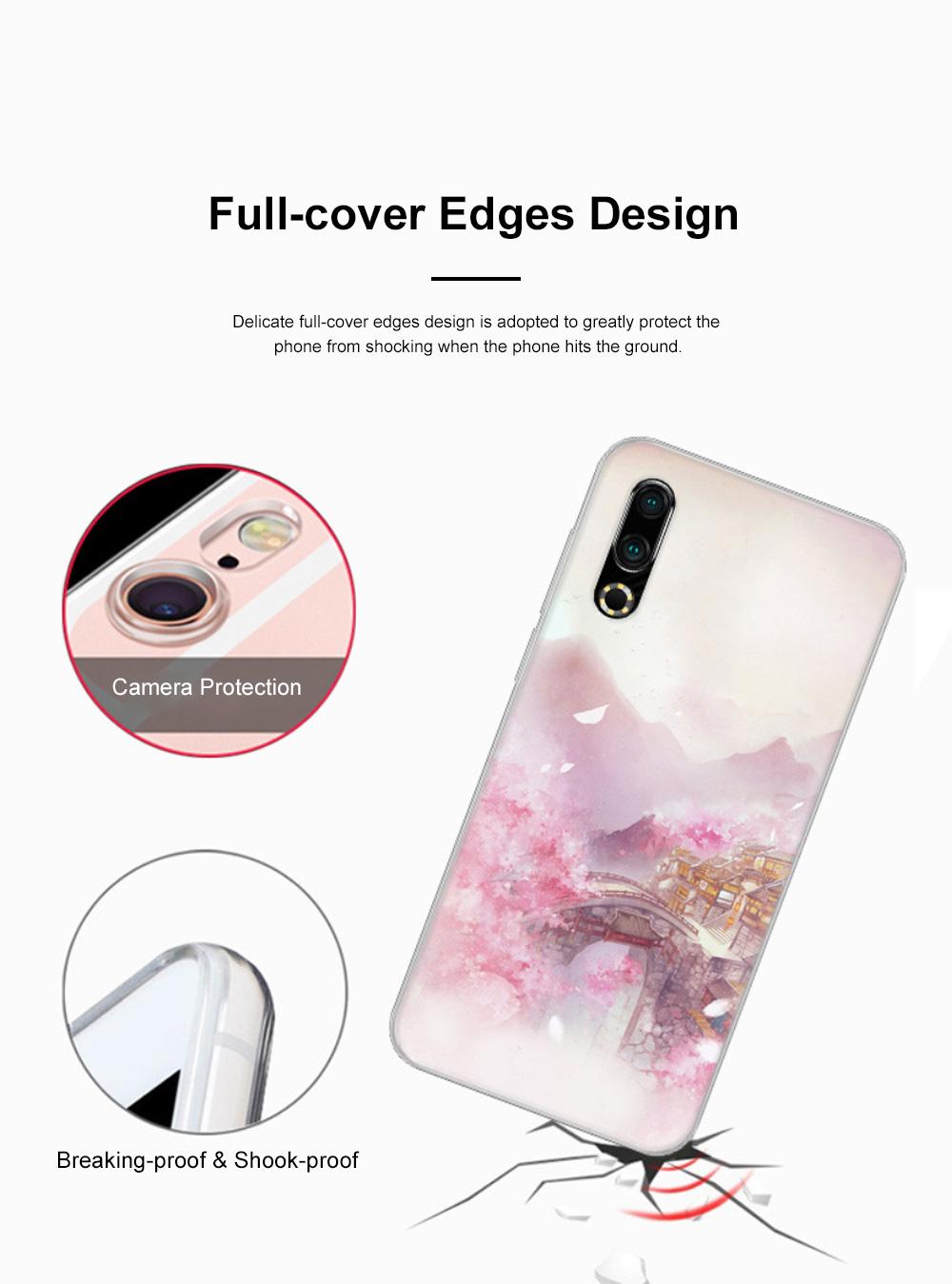 Fancy Cute Carton Painting MEIZU 16S Phone Case, Ultra-soft Silicone TPU MEIZU Creative Phone Protective Cover 4