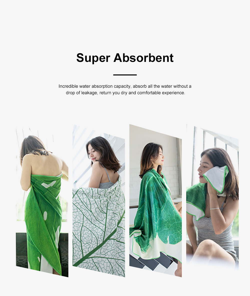 Microfiber Bath Towels for Adults-Green Drying Beach Blanket Super Absorbent Shower & Body Towels for Gym 4