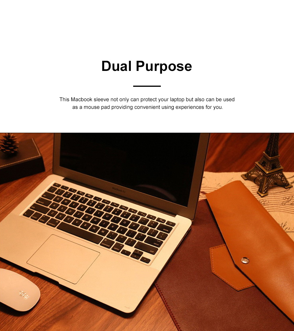 Minimalist Contrast Colored Bag for Mackbook 13.3 inch, Ulta-soft Microfiber Leather Laptop Protective Cover 3