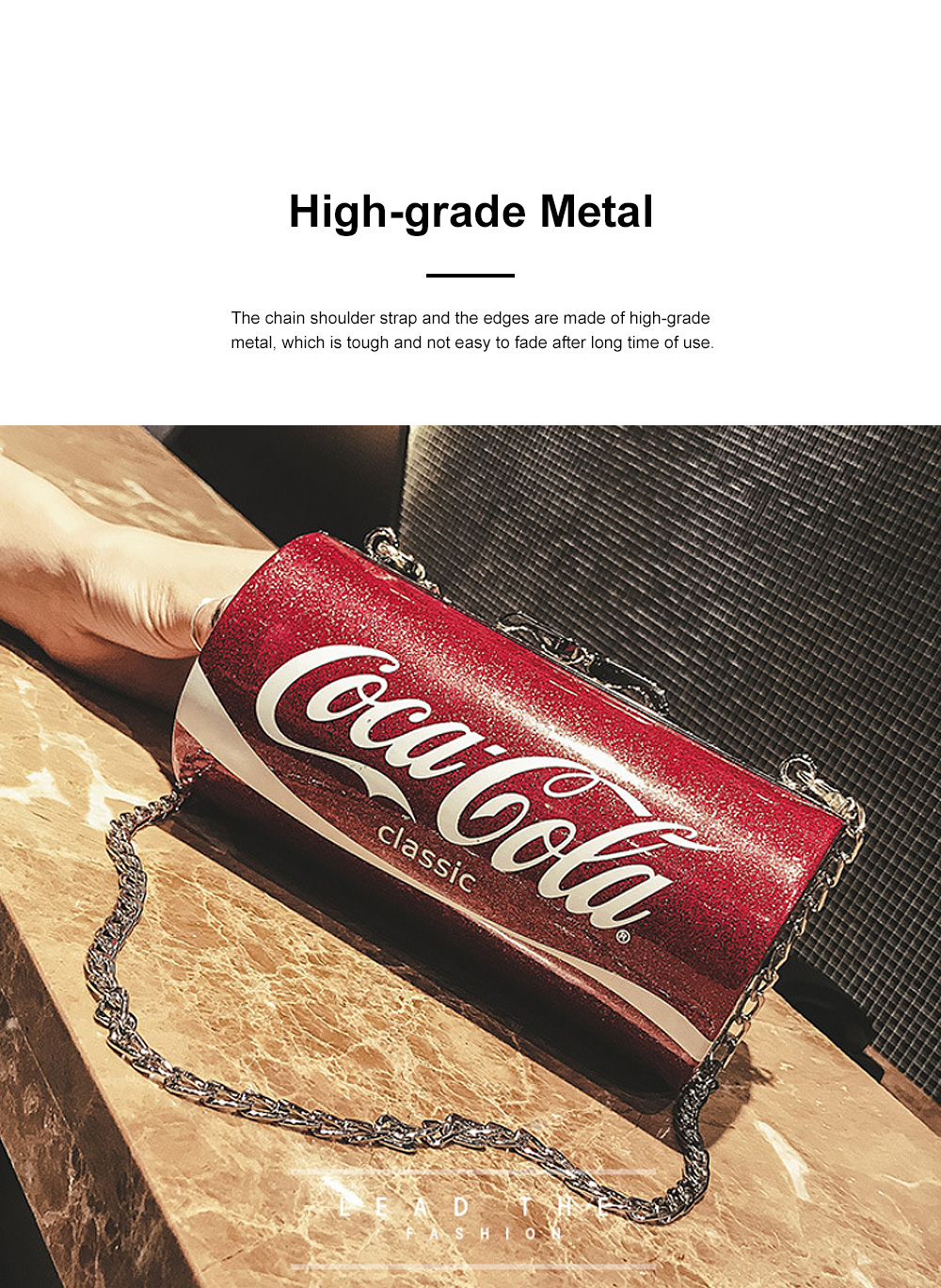 Cute Creative Coca-Cola Sprite Can Lady Shoulder Bag, Tough PU Creative Letters Decoration Small Cross-body Bag for Women 2