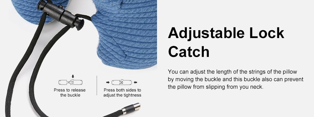 Slow Rebound Memory Foam U-Shaped Soft Pillow, Functional Office School Noon Break Pillow with Adjustable String Buckle 6
