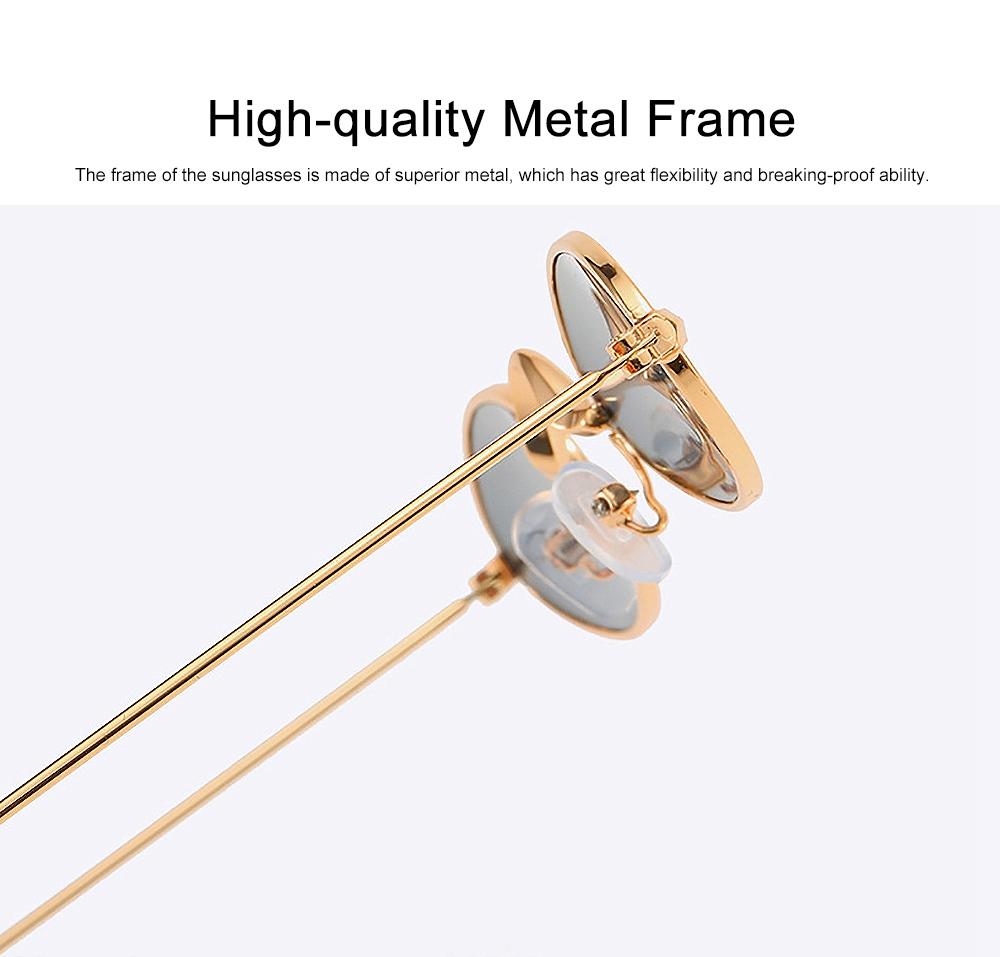 Stylish Individual Oval Model Frame Unisex Sunglasses Sunlight UV Protection Eyeglasses for Women Men 3