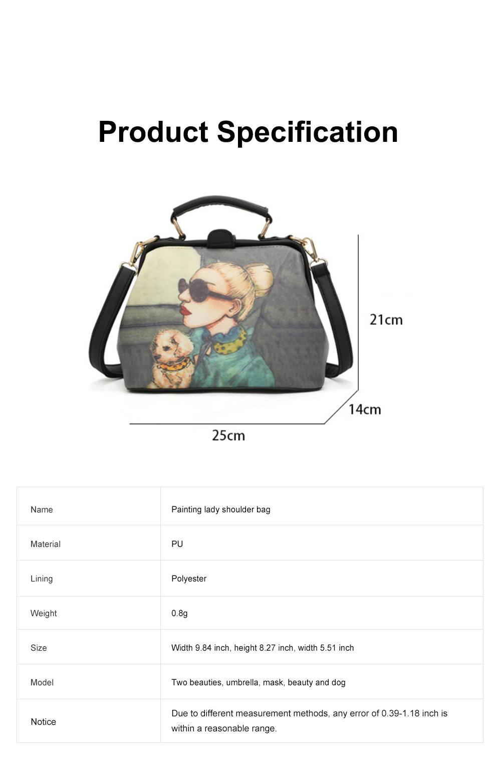 Fashion Stylish Painting Women Shoulder Bag with Handle, Large Capacity Soft PU Leather Bag for Ladies 10