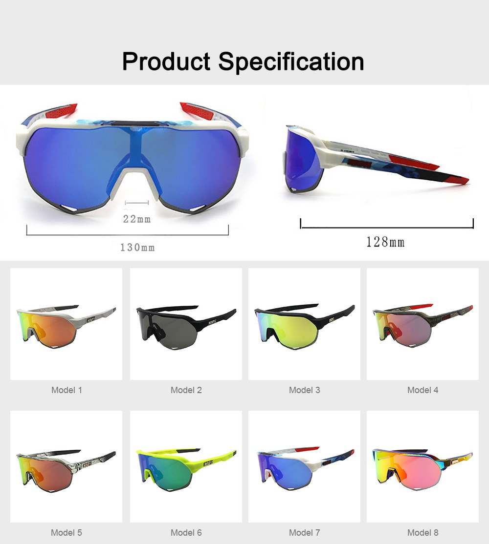 Functional Minimalist Outdoors Sports Mountain Climbing Bicycling Unsex Goggles Sunglasses Eye Protection Glasses 8