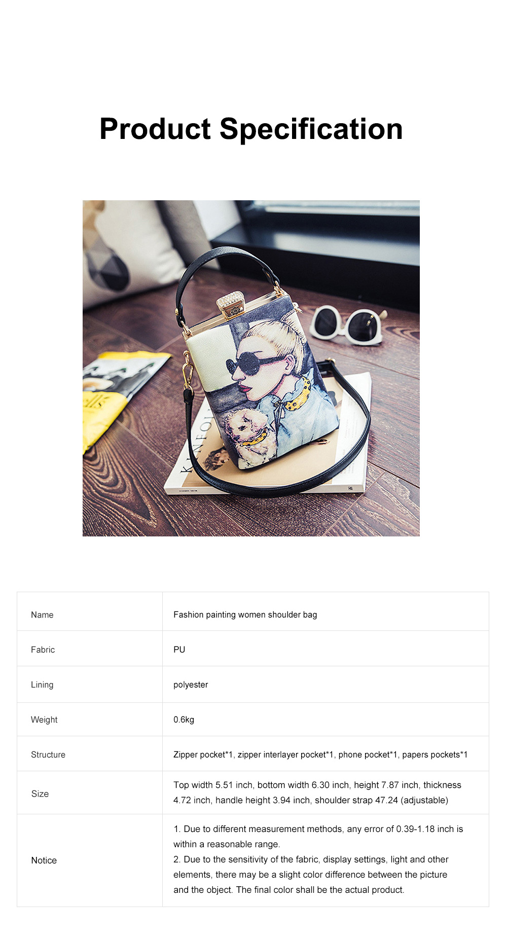 Fashion Painting Small Women Shoulder Bag with Comfortable Handle, Quality Smooth PU Leather Lady Bag 7
