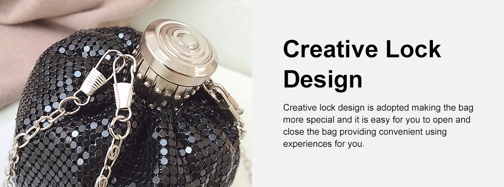 Creative Shiny Aluminum Slices Kettle Model Lady Shoulder Bag, Fashion Stylish Wine Pot Jar Hand Bag for Women 4