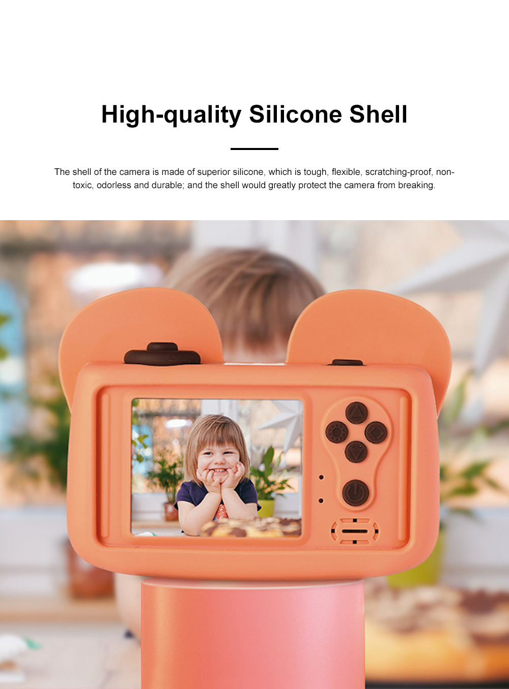 Cute Animal Model Mini Digital Camera for Children WIth Breaking-proof Silicone Shell 16G 1200W HD Pixel 2.0 inch Video Recorder Birthday Present 1