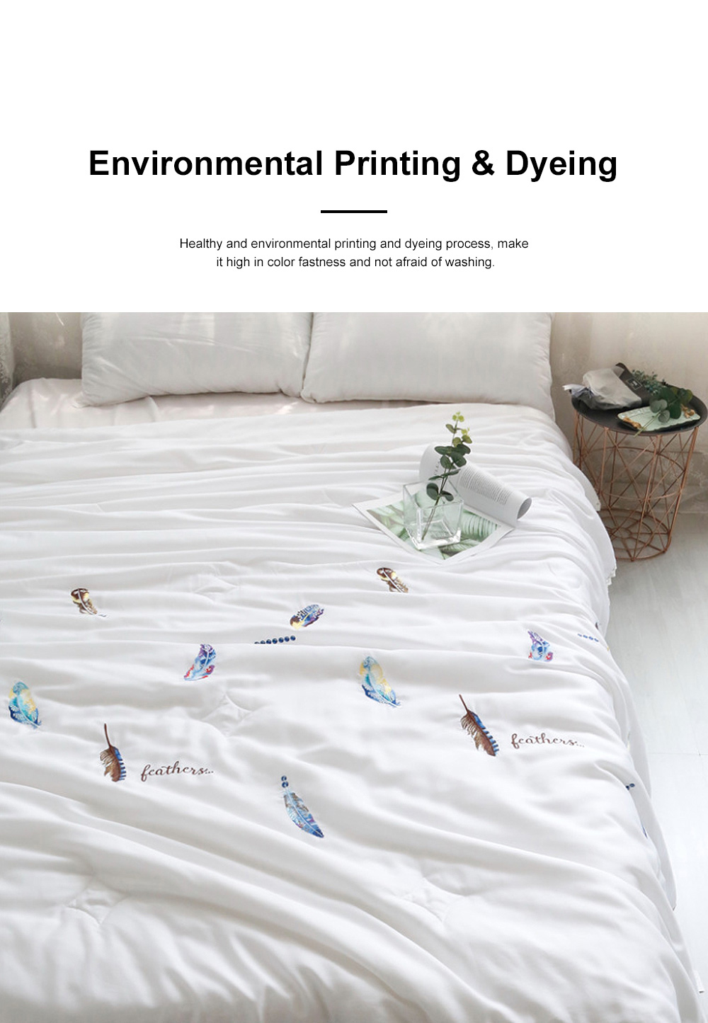 Embroidered Thin Double Summer Quilt Size High Quality Tencel Material Air Conditioning Cool Quilt 2
