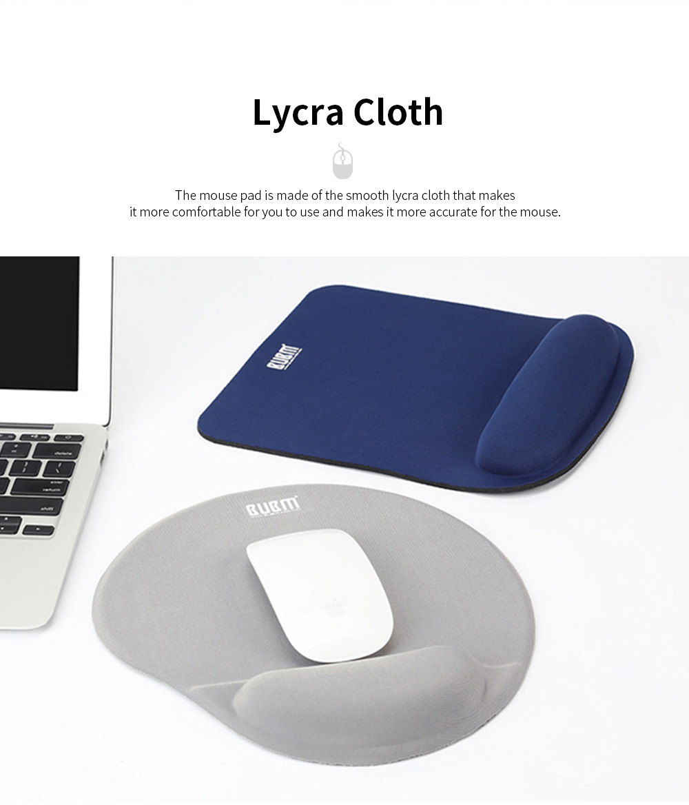 Silicone Mouse Pad Large Size Anti-slip Wrist Protector Supporter Gaming Mat with Memory Foam 1