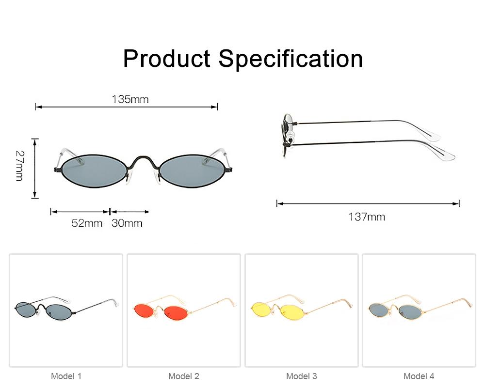 Stylish Individual Oval Model Frame Unisex Sunglasses Sunlight UV Protection Eyeglasses for Women Men 6
