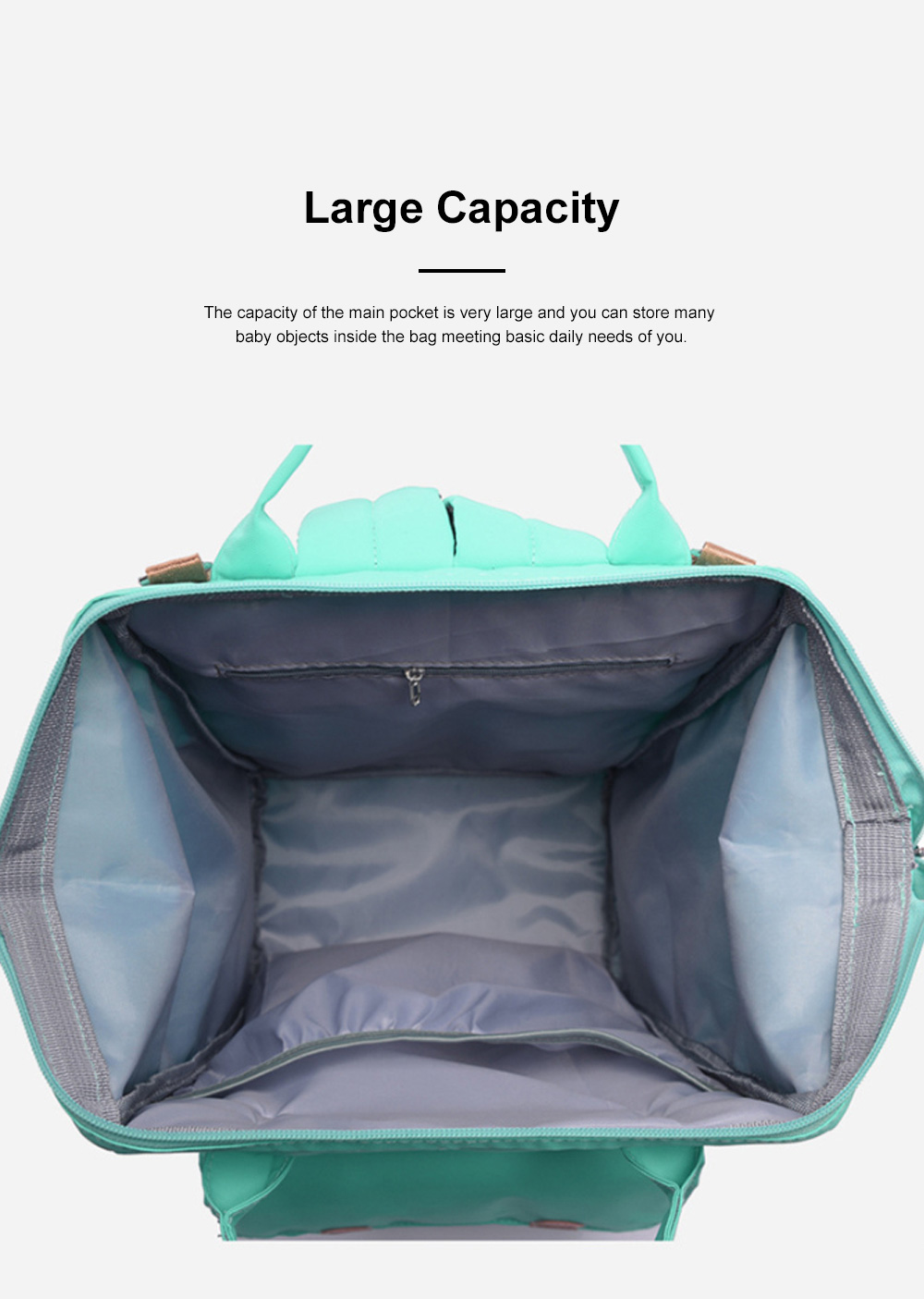 Large Capacity Multifunctional Mummy Backpack, Waterproof Oxford Cloth Napkin Shoulder Bag for Mother 5