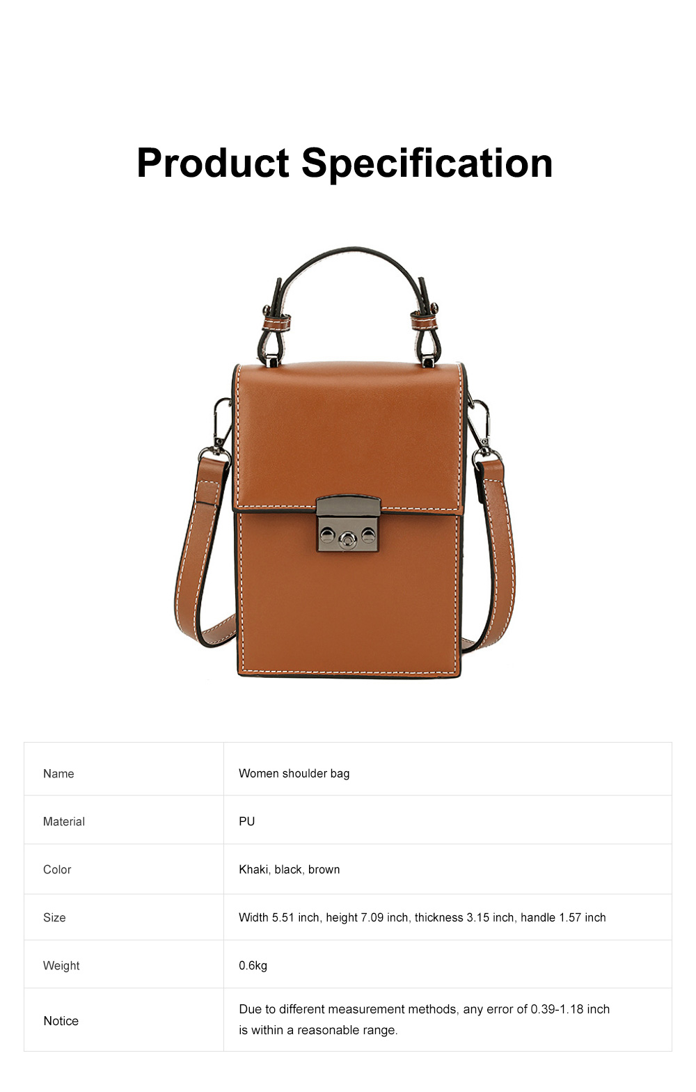 Minimalist Vintage Women Shoulder Slung Bag with Comfortable Handle Small Phone PU Leather Hand Bag for Ladies 6