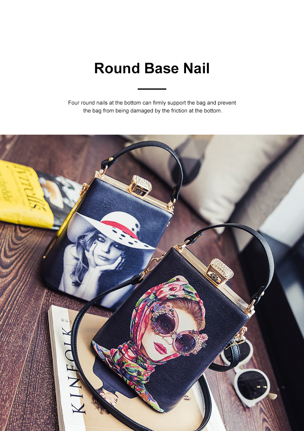 Fashion Painting Small Women Shoulder Bag with Comfortable Handle, Quality Smooth PU Leather Lady Bag 3