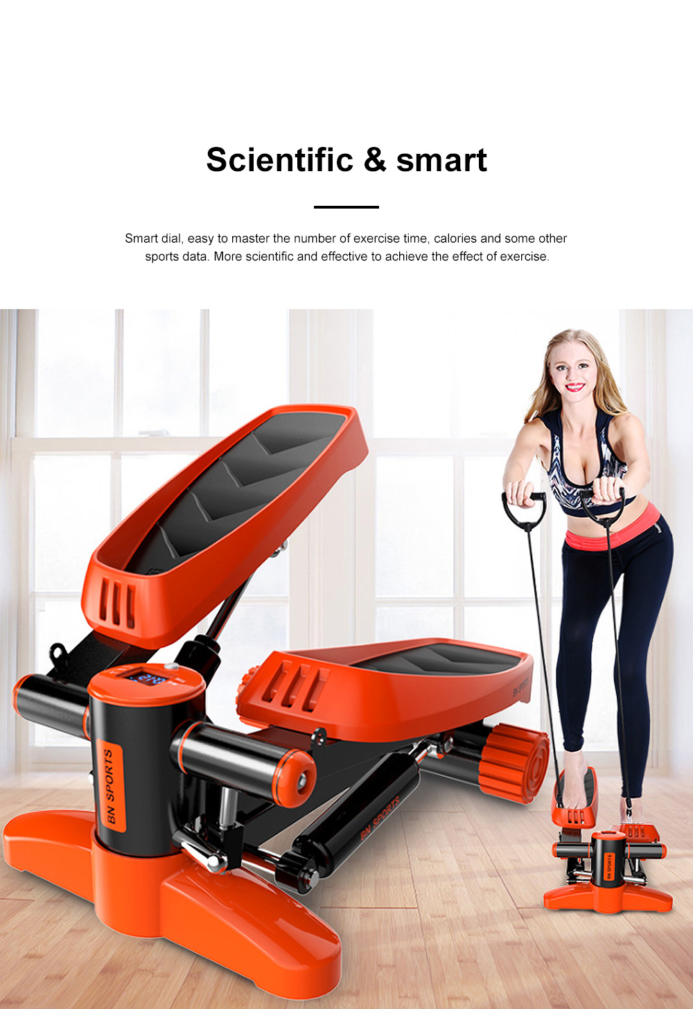 Mini Stair Steppers for Exercise and Calorie Counter Exercise Trainer Treadmill Machine for Whole Body Workout 2