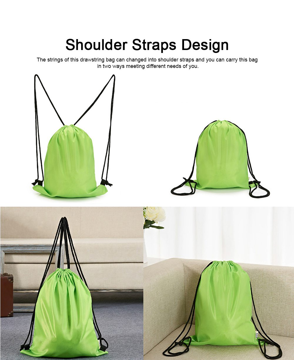 Minimalist Waterproof Moisture-proof Drawstring Shoulders Bag for Storing Picnic Mat Daily Objects Outdoors Accessories 4